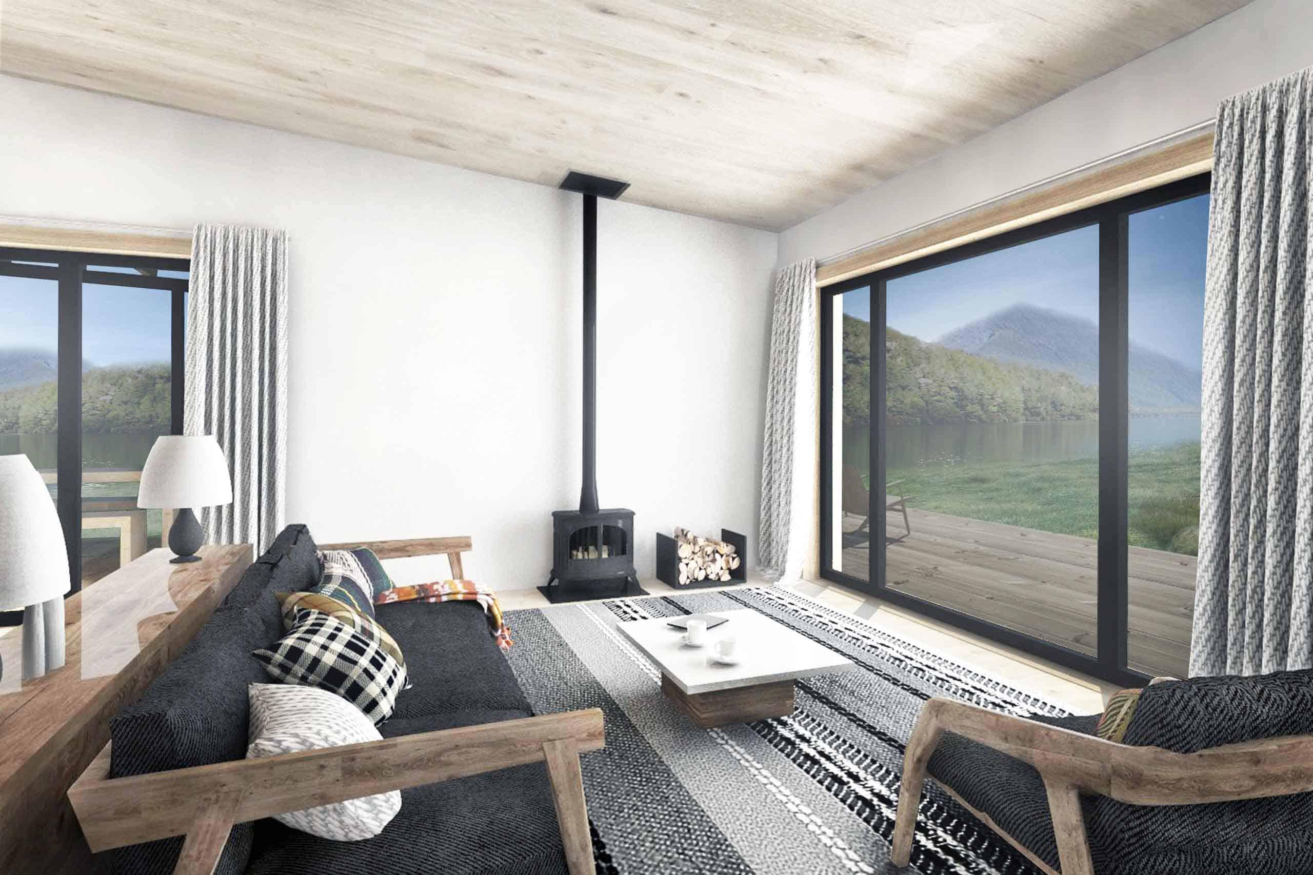 Truoba 115 house plan living room