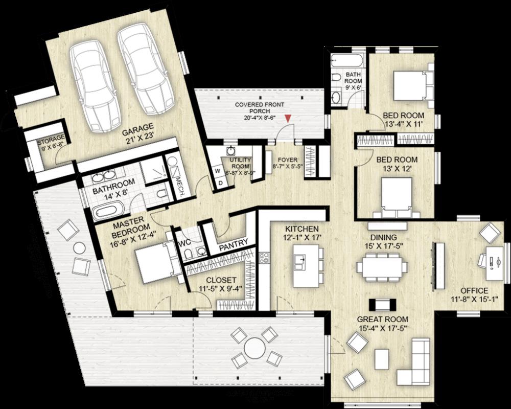 Truoba Class 116 house plan, house floor plan