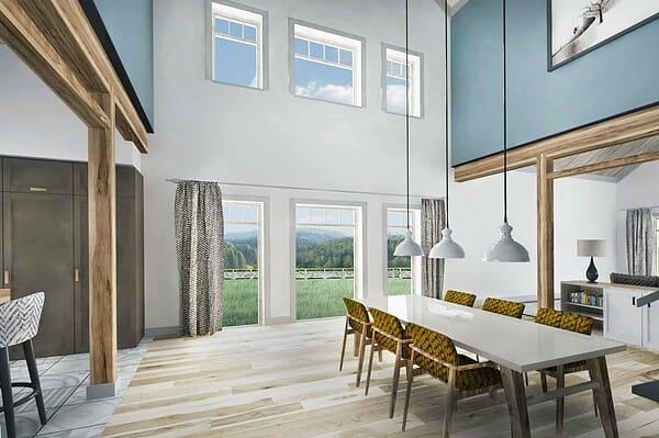 Truoba Class 216 house plan dinning room