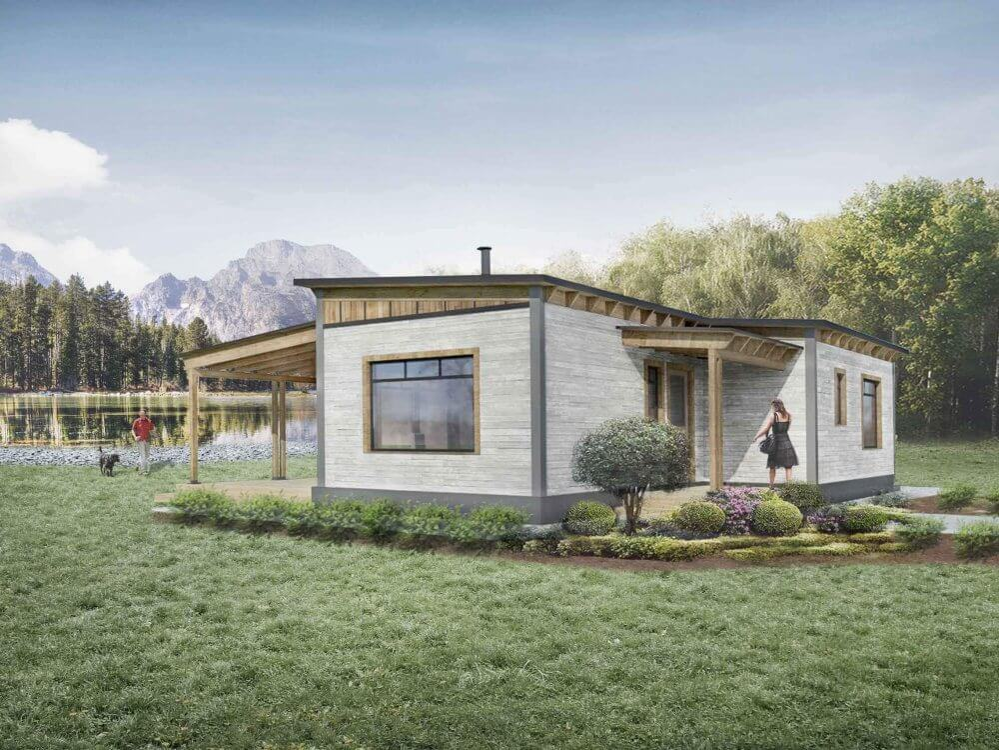 Truoba Mini 217 house plan front elevation