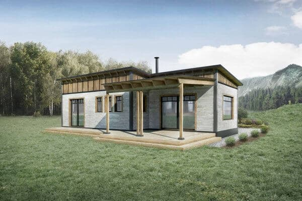 Truoba Mini 217 house plan rear elevation
