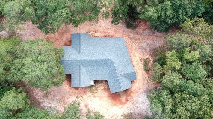 Truoba built house from above in South Carolina