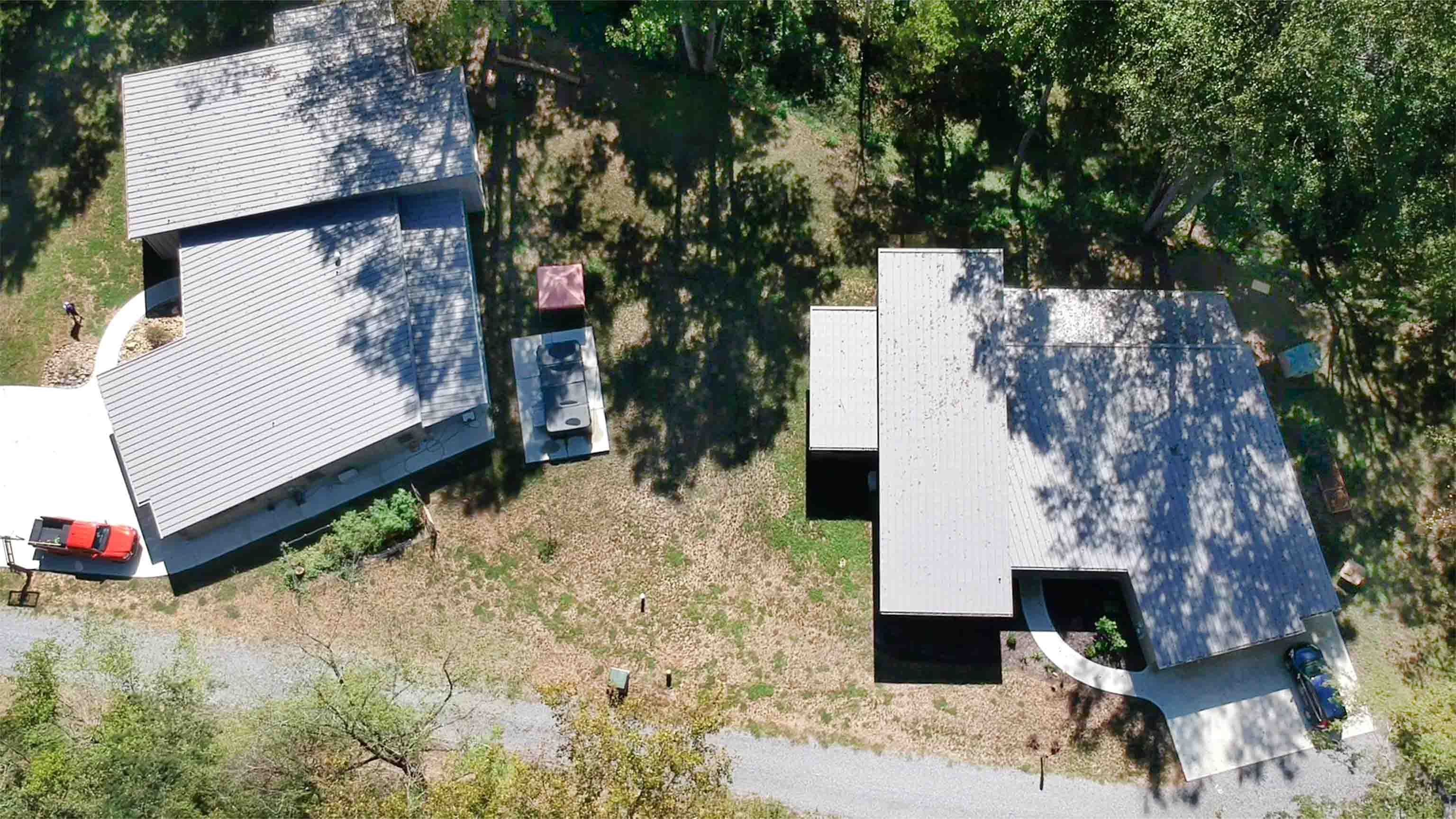 Truoba built house from above in Tennessee