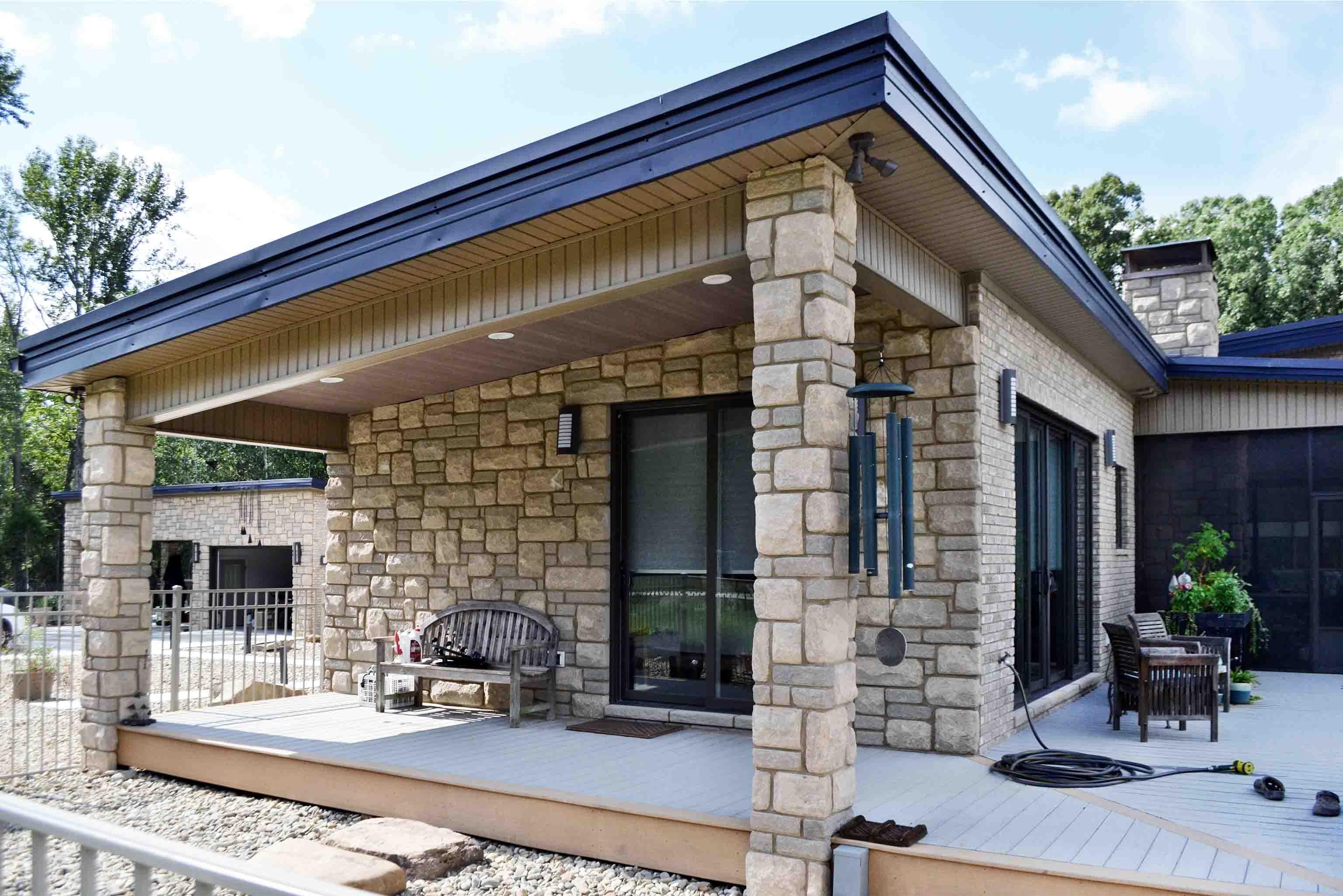 Truoba built house porch in South Carolina