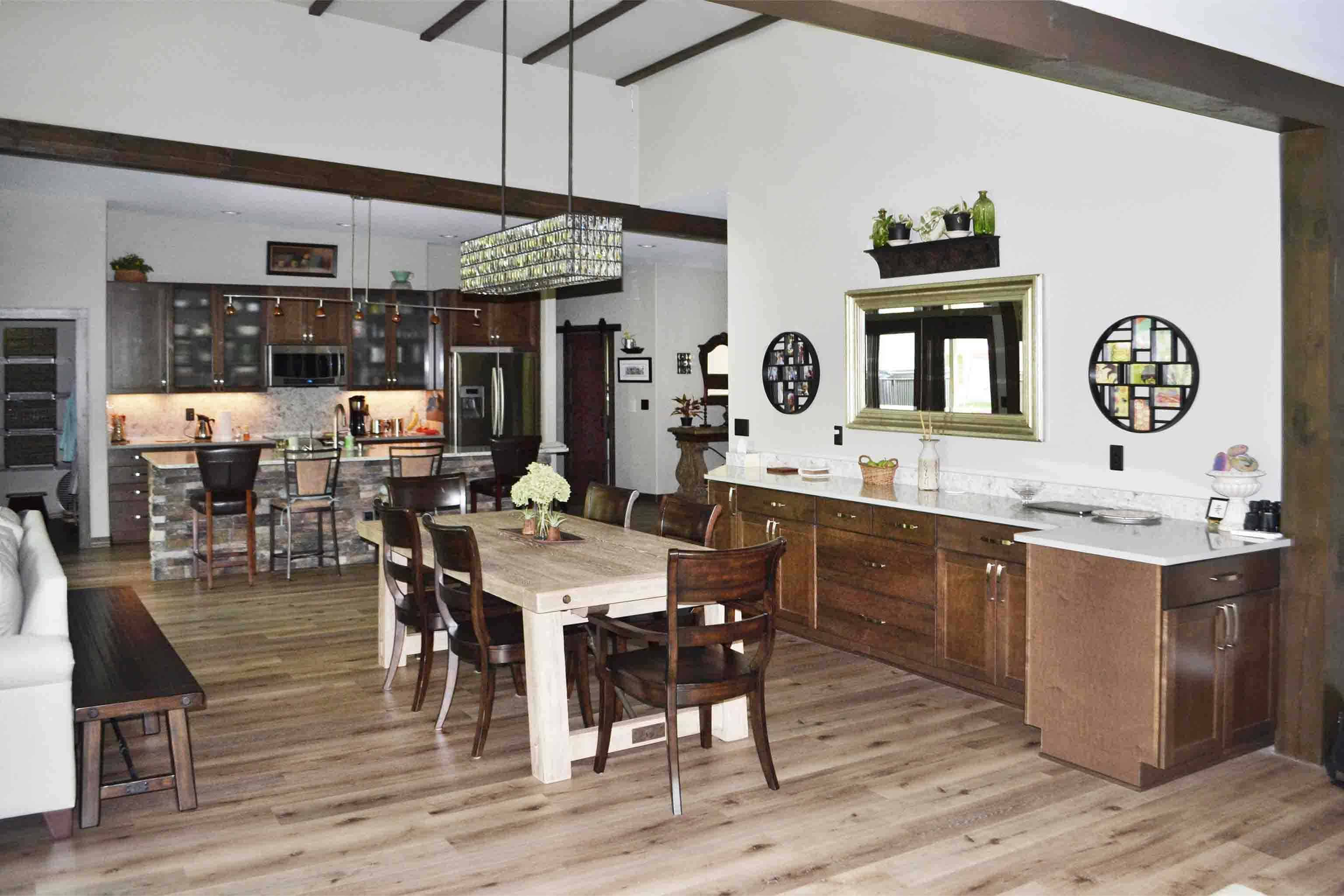 Truoba house dining room interior in Tennessee